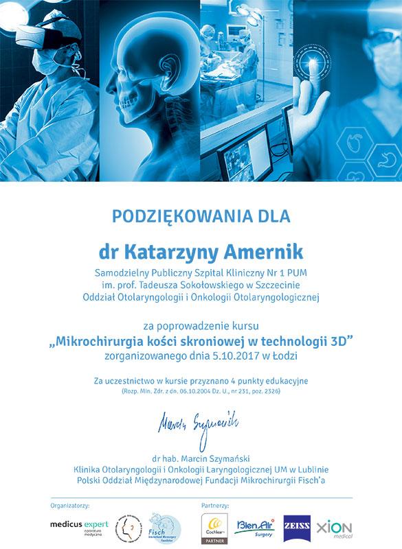 """VI Międzynarodowa Konferencja Naukowo – Szkoleniowa """"Otologia 2017"""""""