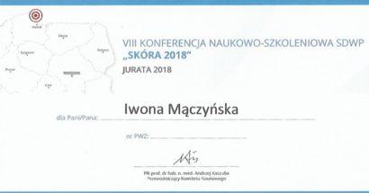 """VIII Konferencja Naukowo - Szkoleniowa """"Skóra 2018"""""""